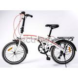 Bicicleta Skyland Plegable Rodado 20 6 Velocidades
