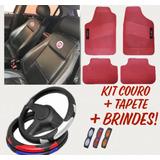 Kit Capas Couro Banco Carro Tapetes Volante Fiat + Brindes!
