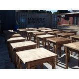 Mesas Madera Maciza Bar Restaurante Pizzerias Hay Stock