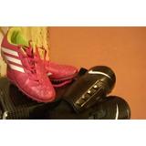 36da182471 Botines De Hockey Para Niñas Marca adidas Color Rosa Y Canil