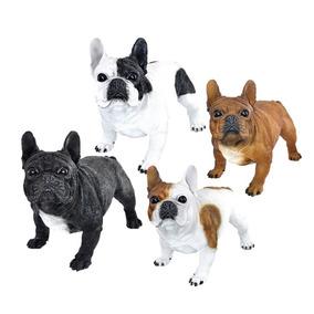 Filhotes Cachorro Bulldog Frances Decorações Jardim Resina cd162ff7fa5b2
