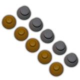 5 Pares Capuchon Gris Amarillo Control Gamecube Tapa Palanca