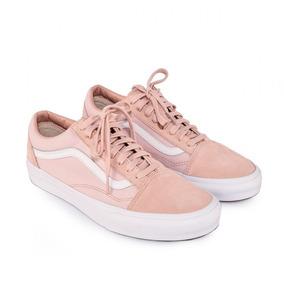 zapatillas vans grises y rosas