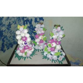 Centros De Mesa De Flores En Goma Eva Para Fiestas Cumple Infantiles