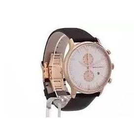 bc31519a7a1 Relógio Empório Armani Ar0398 Original N10 Com Caixa Oferta