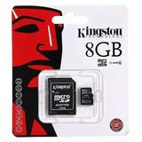 Memoria Micro Sd 8gb Clase 4 Kinston Envió Gratis
