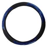 Cubre Volante Con Masajeador Con Pinchitos Negro/azul