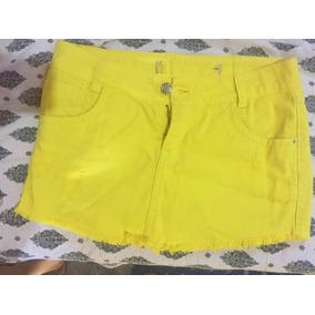 Saia Jeans Amarela