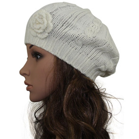 Minakolife Mujeres Crochet Trenzado Tejido Boina Flor Bag 28e83eaa462