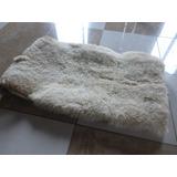 Cojinillo De Cuero Oveja Cordero Blanco 55x80cm