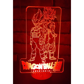 Lampara Led 3d Dragon Ball Super Touch 7colores Goku Vegeta