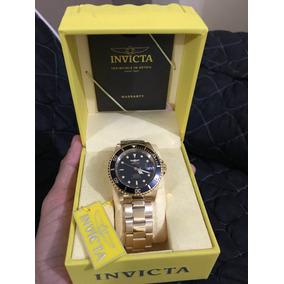 Relógio Invicta 8929ob Submariner Banhado Ouro 18k Original