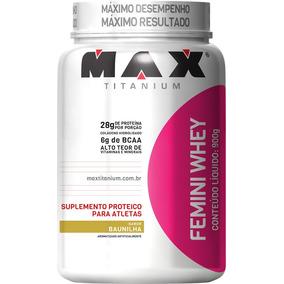 Whey Feminino Femini 900g - Max Titanium - 2 = Frete Gratis