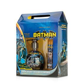 Batman Set Colonia 125ml Jabón Bebés Y Niños