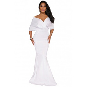 Vestido blanco fiesta largo