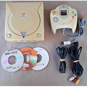 Console Sega Dreamcast Completo Controle Cabo Brinde 3 Jogos