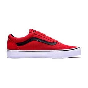 c60e13ee9 Vans Old Skool Negras Y Grises Color Rojo - Zapatillas en Mercado ...