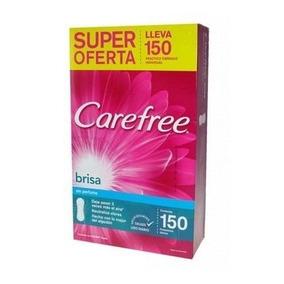 Carefree Brisa Sin Perfume 150 Unidades