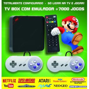 Retro Tv Box - Emulador Super Nintendo Mega Drive Snes Atari