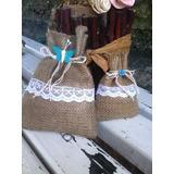 Bolsas De Arpillera, Souvenir Perfumadores,bodas,15años