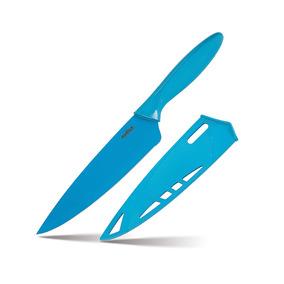 Cuchillo Profesional Cocina Con Funda Chef Azul Prinz