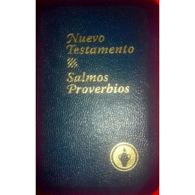 Libro Nuevo Testamento Biblia Salmos Y Proverbios Subasta