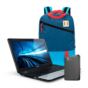 Promo Notebook Acer Celeron + Mochila Smart + Discro Externo