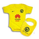 Ropa Para Bebe - Pañalero Y Babero De Futbol - America