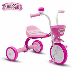 Triciclo 3 Rodas C Buzina Infantil Bicicleta You Girl Nathor