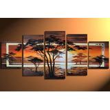 Cuadro Pintura Arte A Mano Decorativo Moderno 1,30x60de Alto