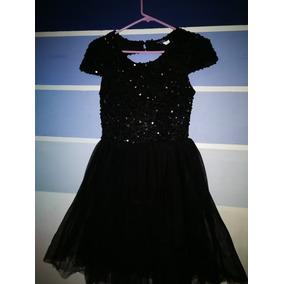 Vestido De Lentejuela Color Negro Talla S