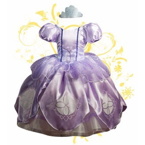 Vestido Disfraz Princesa Sofia Y Amuleto En Pedreria Envio