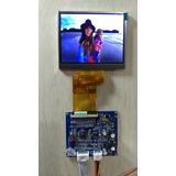 Monitor Lcd Color 3.5 Digital 12vcd Video Compuesto 1vpp.