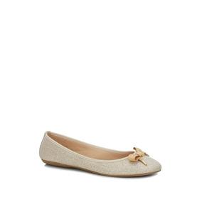 Flat Andrea Ballerina Mujer Oro 2491288