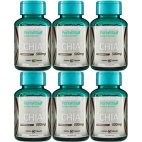 Óleo De Chia 500 Mg - 360 Cápsulas Fortvitta (6 Potes) Low