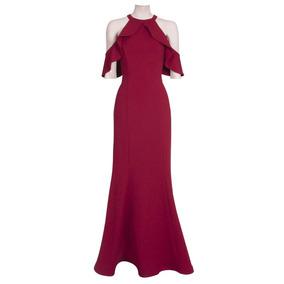 Reina Diaz Vestido Largo Falda Corte Sirena 524332