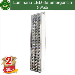 (2 Piezas) Luminaria Led De Emergencia 6w Recargable