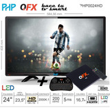 Combo Tv Led Php 24 + Tv Box Con Teclado Smart Tv - Mundial