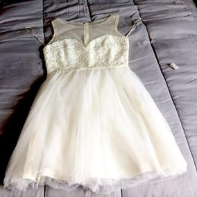 Vestido Corto De Fiesta Blanco Mediano