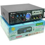 Potencia Sinto Amplificador Usb Radio Fm Con Control