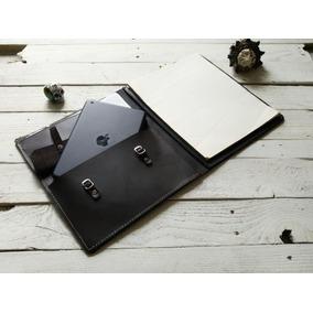 Padfolio Ipad Color Café Oscuro 100% Piel