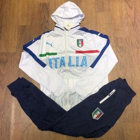 Conjunto Puma Agasalho Itália N°2 - 2018 Calça E Blusa