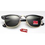 a987ac11e01c0 Ray Ban Rb 3016 Clubmaster Óculos De Sol W0365 Lente 5,1 no Mercado ...