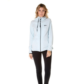 Campera Polar Billabong Roadie Zip Polar Celeste Mujer