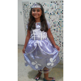 Fantasia Princesa Sofia Vestido Lindo C/ Coroa +frete Grátis