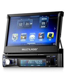Dvd Player Automotivo Multilaser Extreme+ Retrátil Gps, Tv T