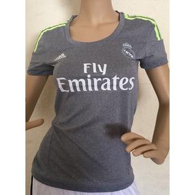 Jersey adidas Real Madrid Gris 2015 2016 De Mujer Dama 45376f3e506e9