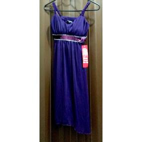 Remate De Vestido Color Violeta Para Dama, Talla Chica