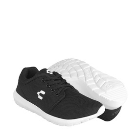 Tenis Casuales Charly Para Mujer Textil Negro 1044378