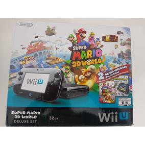 Wii U Deluxe 32g Super Mario3d Novo Na Caixa